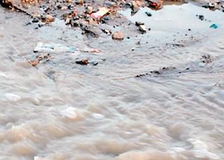 ગુંદાવાડી ચોકી પાસે પાઇપલાઇન ફાટી, પેલેસ રોડ સુધી પાણીની રેલમછેલ