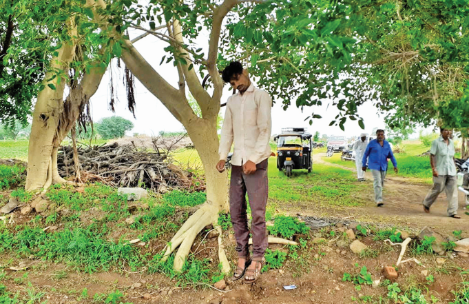 Narayan Nagar youth hangs on a tree and commited suicide