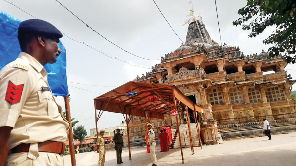 The Shamlaji Temple increased security in the wake of the terror attacks