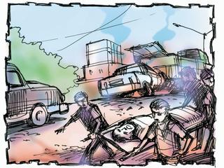 રાજકોટની ગોંડલ ચોકડી પાસે ટ્રક મહિલા ઉપર ફરી વળતાં મોત