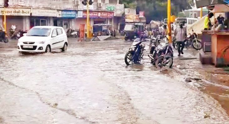 Half an inch of rain with thunderstorms in Junagadh