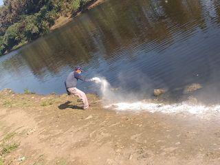 પાલિકા દ્વારા નદી કિનારાની સફાઈ કરી ક્લોરીન પાવડરનો છંટકાવ કરાયો
