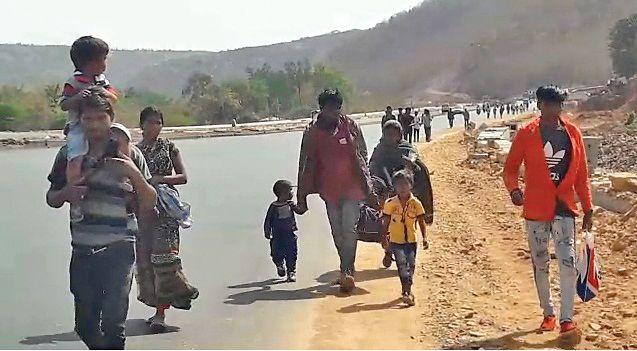 Passengers depart from Gujarat to Rajasthan