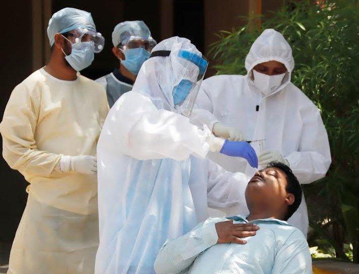 medical team tests people from gopalnagar in memnagar area
