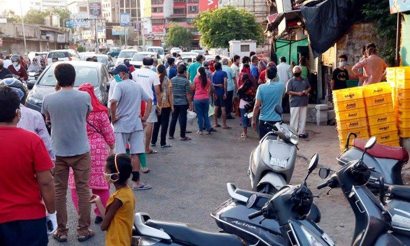 ahmedabad panic shopped