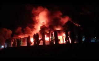 પાદરા નજીક જૈન ઇરીગેશન કંપનીમાં મોડી રાત્રે ભીષણ આગ