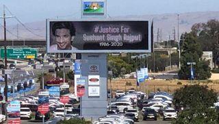 સુશાંત સિંહ કેસઃ અમેરિકામાં #JusticeForSSR ના બોર્ડ લાગ્યા