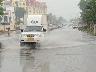 બારડોલીમાં આફત નો વરસાદ  બે કલાકમાં અઢી ઇંચથી વધુ ખાબક્યો