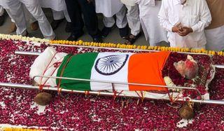 ગુજરાતના પૂર્વ CM માધવસિંહ સોલંકીના રાજકીય સન્માન સાથે અંતિમ સંસ્કાર કરાયા