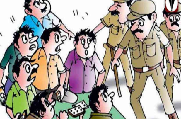 Patan R R cell arrested six gamblers with a case of Rs 5.78 lakh