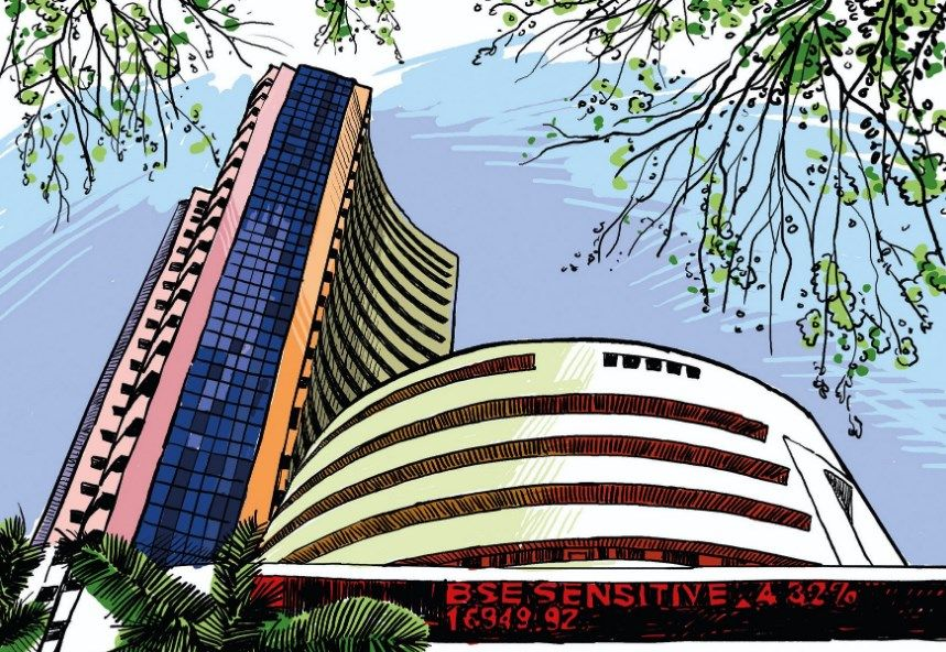 The Sensex fell 849 points to 549 points