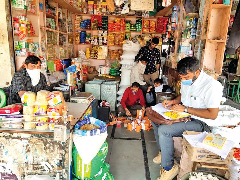 Destroyed by selling expired goods in Hanuman Traders: Notice issued