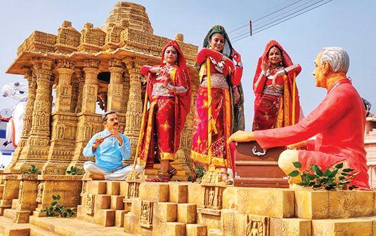 Gujarat's tableau in the Republic Day parade in Delhi: Sun Temple of Modhera