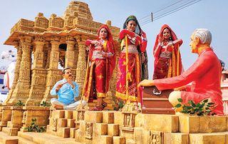 દિલ્હીમાં પ્રજાસત્તાક પર્વની પરેડમાં ગુજરાતનો ટેબ્લો : મોઢેરાનું સૂર્યમંદિર