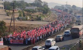 મહારાષ્ટ્રઃ કૃષિ કાયદાના વિરોધમાં હજારો ખેડૂતોની મુંબઇ તરફ કૂચ