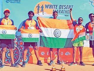 ઓલપાડ વિસ્તારના ચાર મિત્રોએ કચ્છના રણમાં 300 દોડવીરોને હરાવી સફળતાનો ઝંડો લહેરાવ્યો