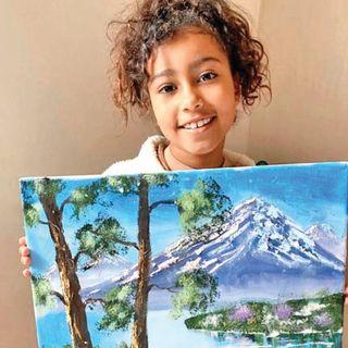 કિમે દીકરીની પેઇન્ટિંગ સ્કિલ્સ વિશે સવાલ કરનારા ટ્રોલ્સની ટીકા કરી