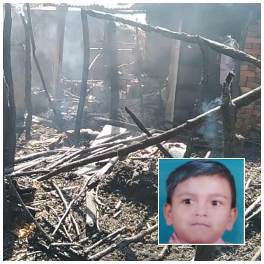વડોદરા નજીક વાઘોડિયા તાલુકાના તરસવા ગામે મકાનમાં આગ લાગતાં છ વર્ષનું બાળક ભૂંજાયુ