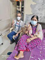 અનેક બીમારી છતાં હોસ્પિટલમાં દાખલ થયા વિના 75 વર્ષના શકુંતલાબહેને કોરોનાને મ્હાત આપી